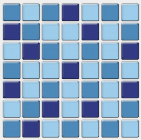 Placa Pastilha Adesiva Resinada 18x18 cm - AT092 - Azul