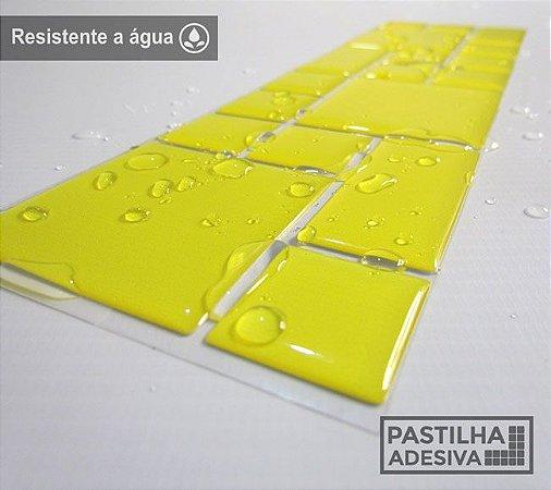 Faixa Mosaico Adesiva Resinada 27x8 cm - AT99 - Amarelo