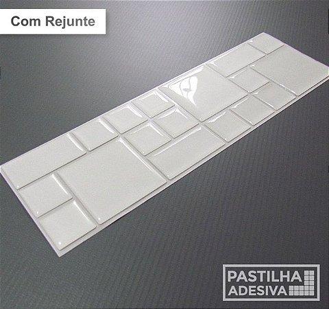 Faixa Mosaico Adesiva Resinada 27x8 cm - AT101 - Branco