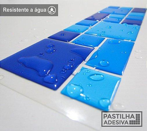 Faixa Mosaico Adesiva Resinada 27x8 cm - AT108 - Azul
