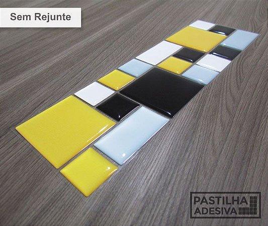 Faixa Mosaico Adesiva Resinada 28x9 cm - AT114