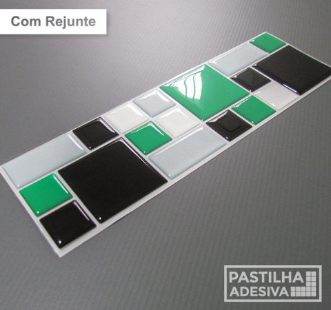 Faixa Mosaico Adesiva Resinada 28x9 cm - AT115