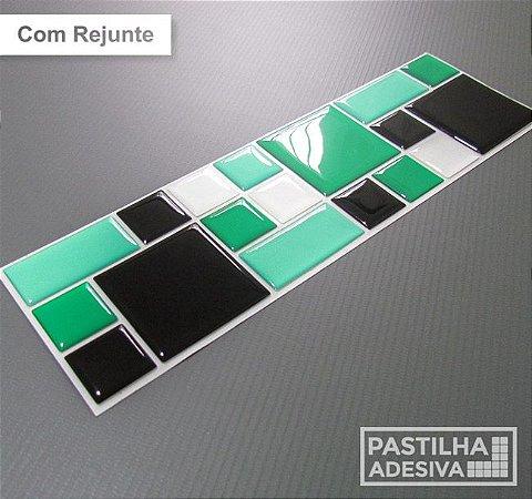 Faixa Mosaico Adesiva Resinada 28x9 cm - AT116