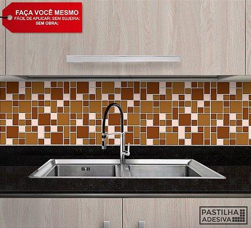 Placa Mosaico Adesiva Resinada 30x28,5 cm - AT140