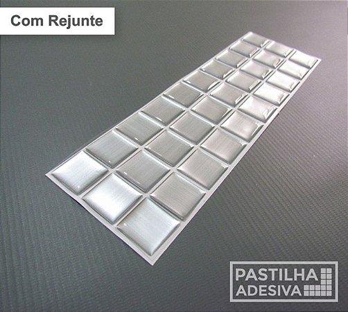 Faixa Pastilha Adesiva Resinada Aço Escovado 27x8 cm - AT142 - Escovado