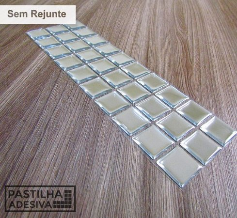 Faixa Pastilha Adesiva Resinada Espelhada 28x9 cm - AT167