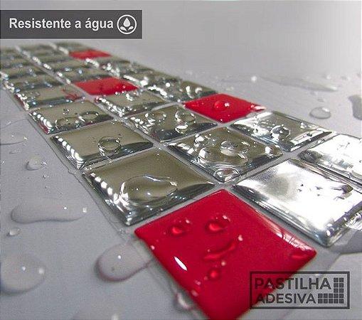 Faixa Pastilha Adesiva Resinada Espelhada 28x9 cm - AT169