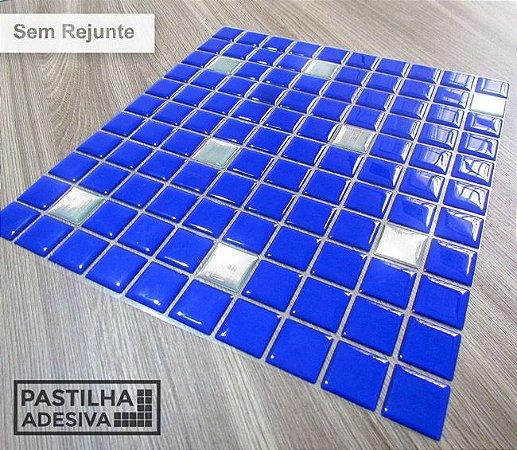 Placa Pastilha Adesiva Resinada 30x27 cm - AT175 - Azul
