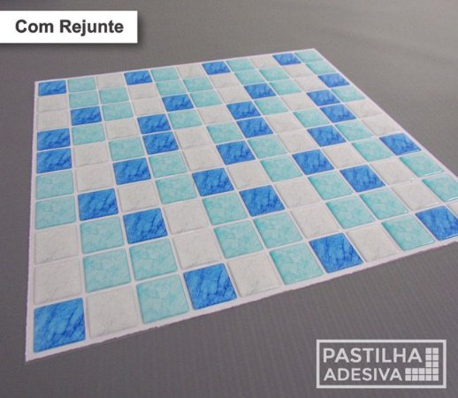 Placa Pastilha Adesiva Resinada 30x27 cm - AT192 - Azul