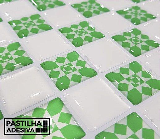 Placa Pastilha Adesiva Resinada 30x27 cm - AT205 - Verde