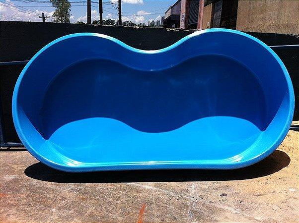 Piscina De Fibra Feijao De 2 800 Litros Azul Piscinas Acessorios