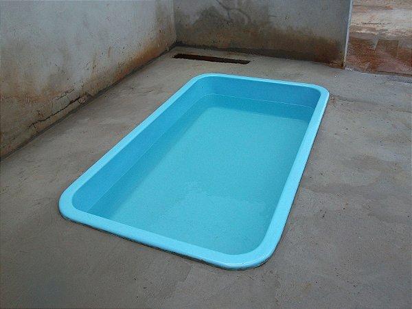 Piscina De Fibra Retangular 2 28 X 1 32 X 0 50 Azul Piscinas