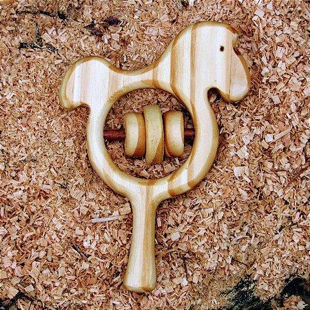 Chocalho de madeira - Cavalinho