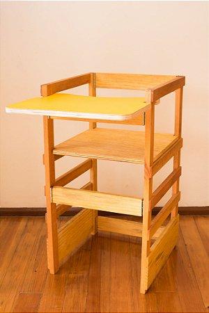 Torre de Aprendizagem Montessori 2 em 1 - com bandeja