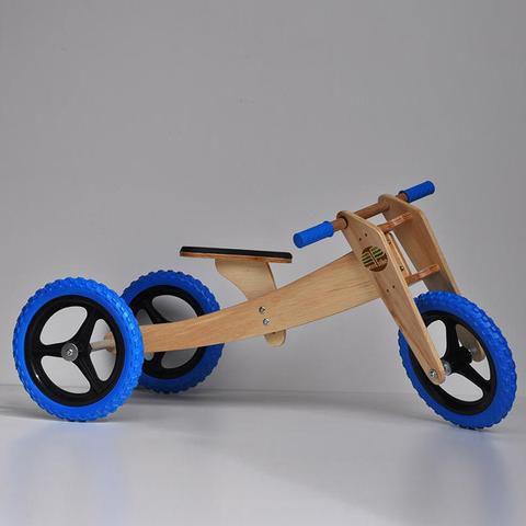 Bicicleta de equilíbrio - Woodbike 3 em 1 Azul