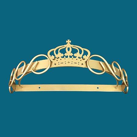 Dossel De Parede Arabesco E Coroa - Dourado