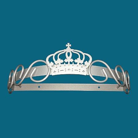 Dossel De Parede Arabesco E Coroa - Prata