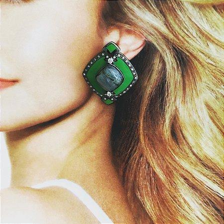Brinco Leni Agata Verde