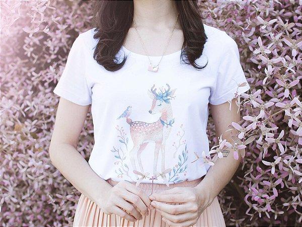 Tshirt Cereja Pink Bambi