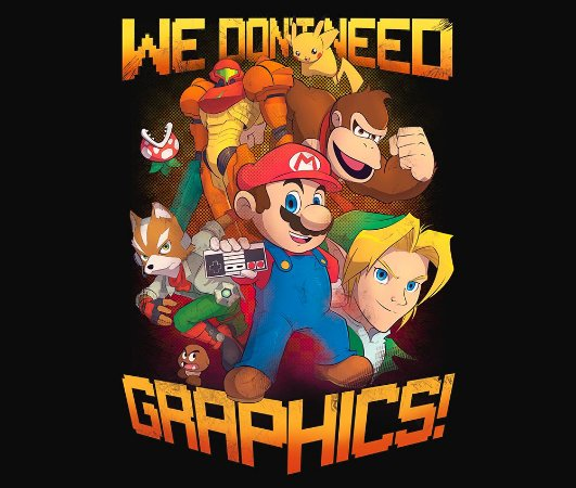 Enjoystick Nintendo We Don't Need Graphics