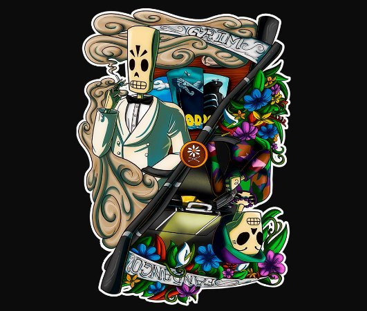 Enjoystick Grim Fandango Color Composition