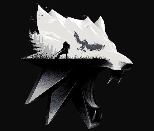 Enjoystick The Witcher White Wolf Composition