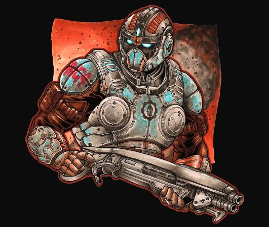 Enjoystick Gears of War - Carmine