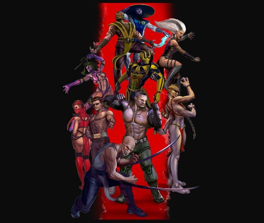 Enjoystick Mortal Kombat Vertical Composition