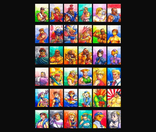 Enjoystick Street Fighter Alpha 3 Max - Characters