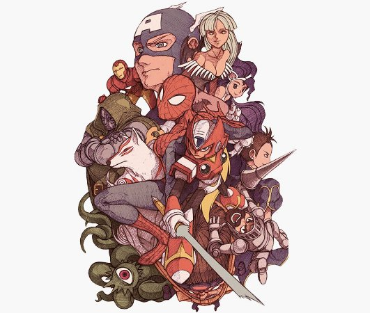 Enjoystick Marvel Vs Capcom Composition