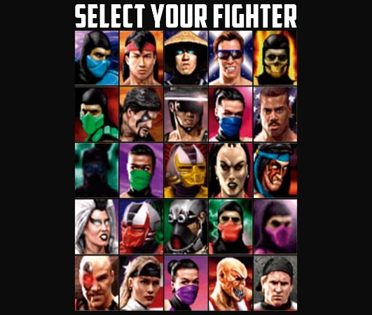 Enjoystick Mortal Kombat - Select your Fighter