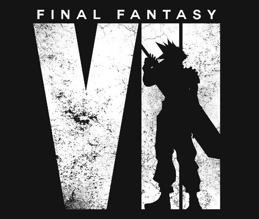 Enjoystick Final Fantasy VII Cloud in Logo