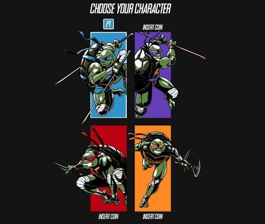 Enjoystick TMNT Select your characters