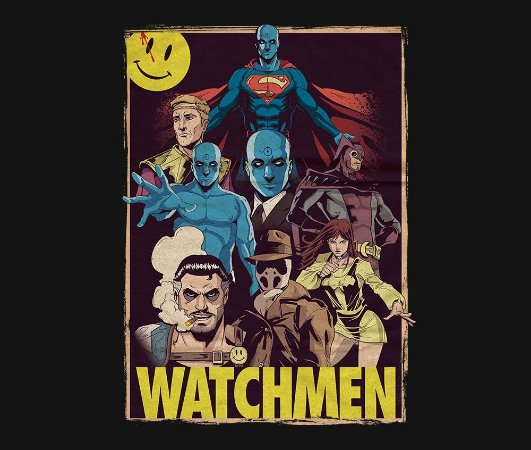 Enjoystick Watchmen Poster Composition