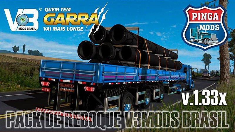 Pack de Granel V3 Mods Brasil para Ets2 1 33x