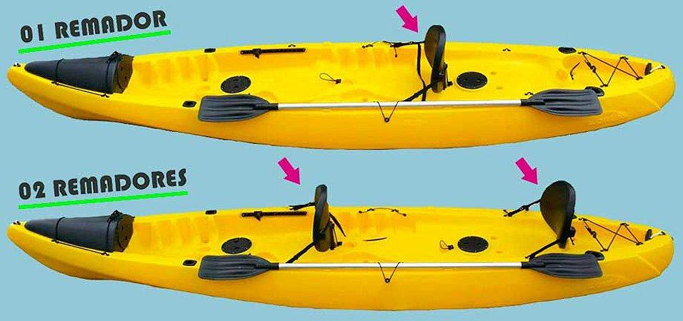 ec6b5c85b Caiaque Orca ( Lontras ) Básico - Mar Azul Caiaques