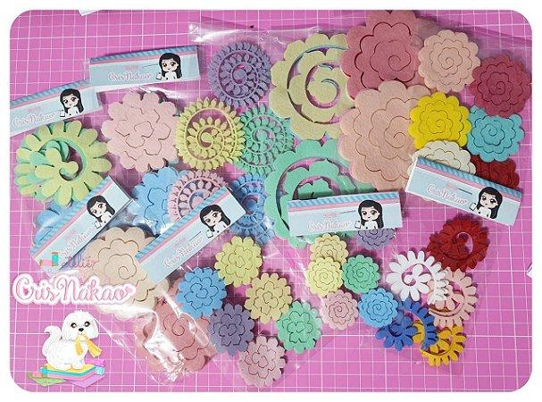 Recortes em Feltro  - Kit espirais para rosas - 102 unidades