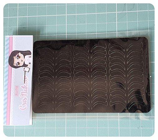 Recortes em Feltro - Cílios Modelo 9 1,5 cm com termocolante definitivo - 60 un (30 pares)