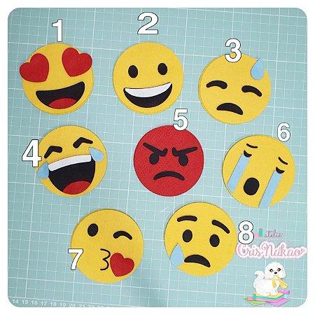 Recortes em Feltro - Emojis (emoções)