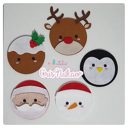 Recortes em Feltro - Kit pingentes de Natal