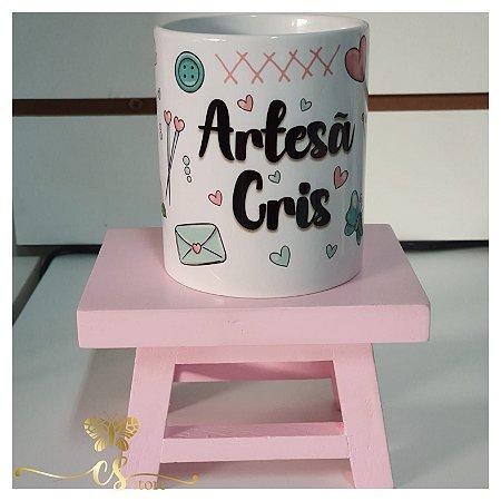 Caneca Porcelana Artesã (nome personalizável)