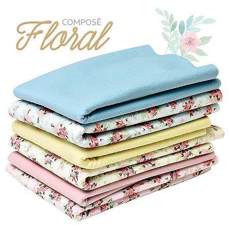 Kit Composê Floral com 6 Peças