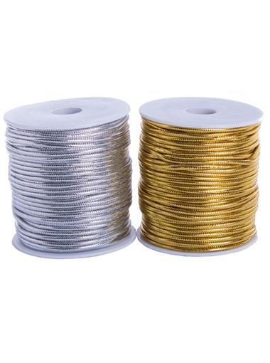 Cordao Metalizado Aquarela  Dourado ou Prata (Metro)