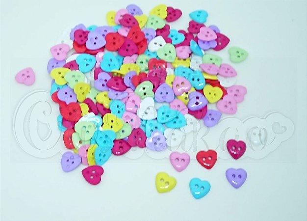 Botões Infantis De Coração 18mm