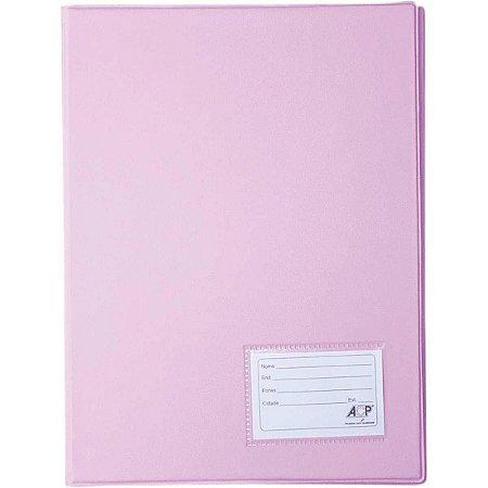 Pasta catálogo Plastica Oficio Rosa  50envel. Polibras