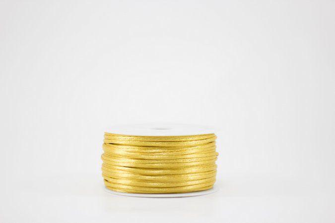 Cordao de Cetim LULI 2mm Dourado - Metro