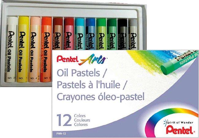Giz pastel Oleoso 12cores Pentel