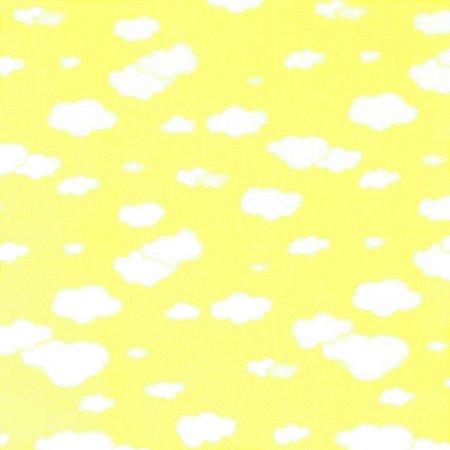 Feltro Estampado Nuvem Amarela - Santa Fé by Fernanda Lacerda