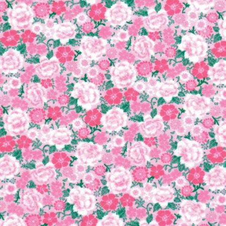 Feltro Coleção Paixão - chita rosa e verde
