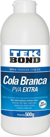 Cola para artesanato Branca Extra 500grs  -  Tekbond